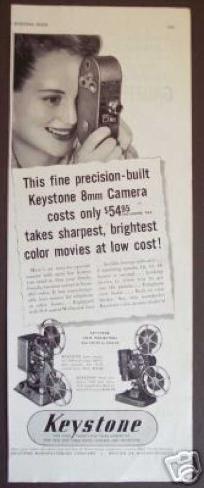 Keystone 8mm Color Movie Camera & Projector (1949)