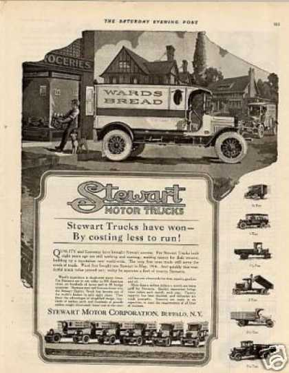 Stewart Trucks Ad Wards Bread (1920)