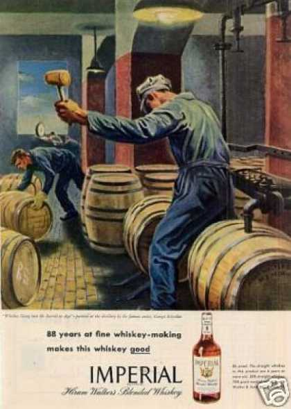 Imperial Whiskey Ad Georges Schreiber Art (1946)