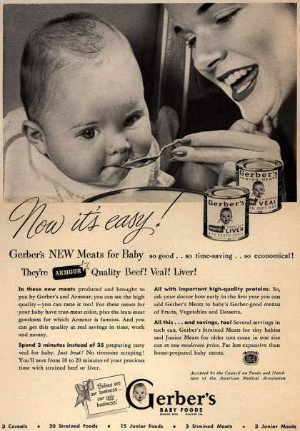 Gerber's Gerber Meats for Baby – Now it's Easy (1949)