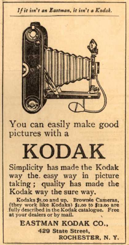 Kodak – You can easily make good pictures with a Kodak (1912)
