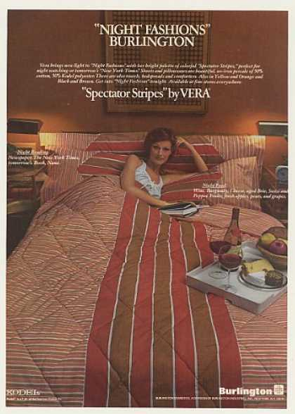 Burlington Vera Spectator Stripes Sheets (1976)