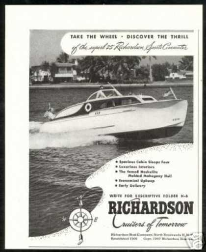 Richardson 25 ft Sports Commuter Boat Vintage (1947)