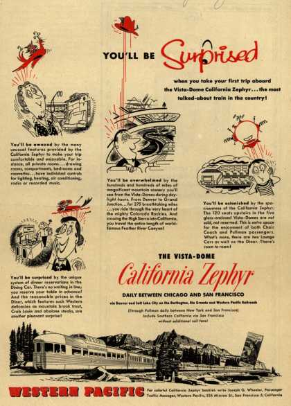 Western Pacific's California Zephyr – You'll be surprised (1954)