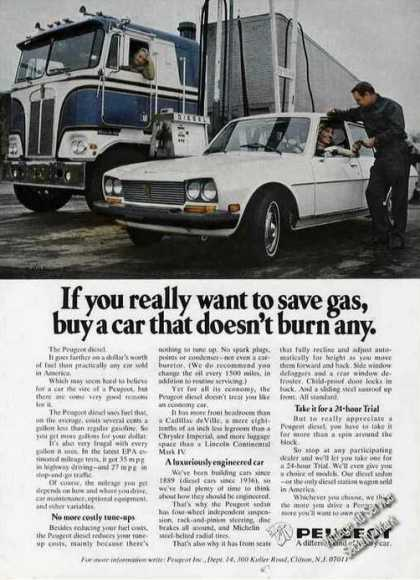 "Peugeot Diesel ""If You Really Want To Save Gas"" (1976)"