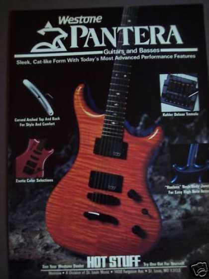 Westone Pantera Guitars & Bass Music (1986)