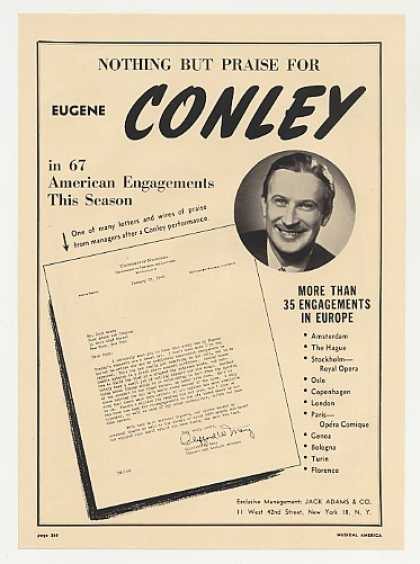 Eugene Conley Photo Booking (1948)