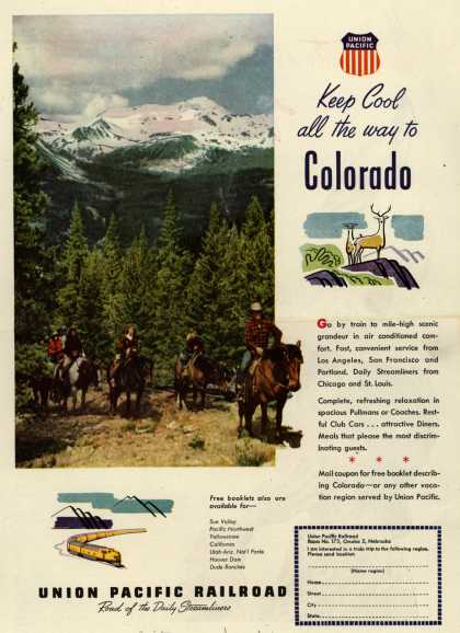 Union Pacific Railroad's Colorado – Keep Cool all the way to Colorado (1948)