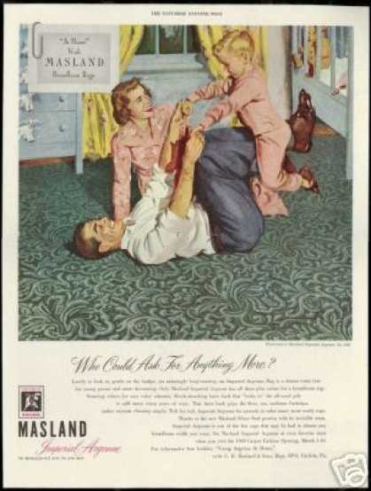 Masland & Son Rugs Carpet Family Art (1949)
