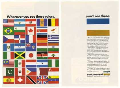 BankAmericard Colors 40 Country Flags (1974)