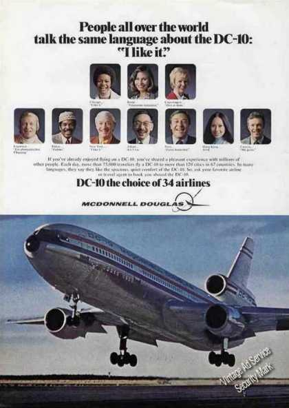"Nice Dc-10 Photo ""I Like It."" (1975)"