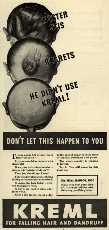 Kreml's hair tonic – Don't Let This Happen To You (1935)