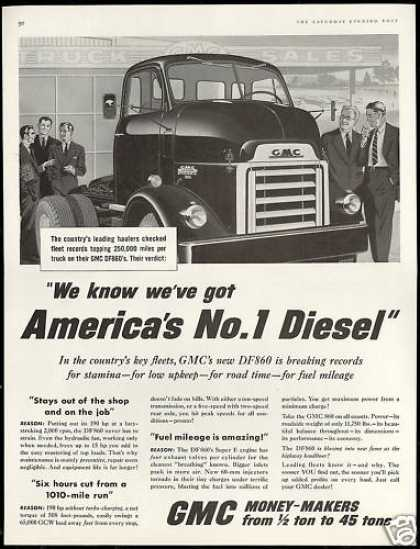 GMC New DF860 Big Truck No 1 Diesel (1957)