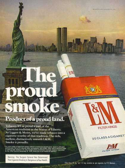 L&M – World Trade Center and Miss Liberty (1970)