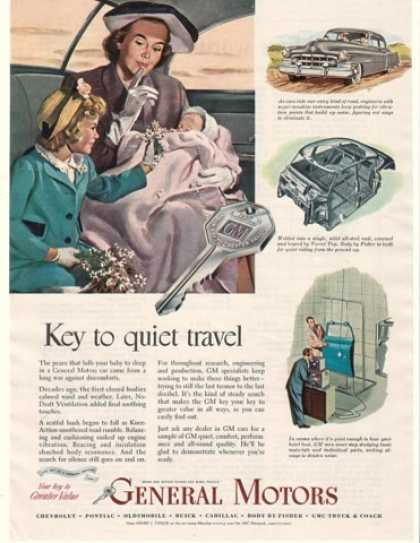 GM General Motors Key to Quiet Travel (1950)