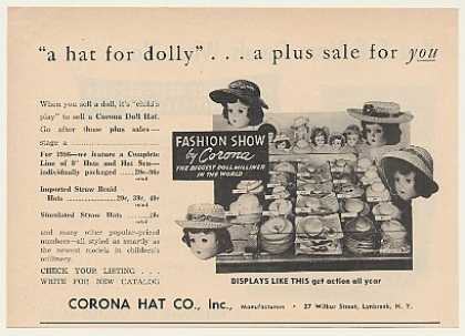 Corona Hat Co Straw Doll Hats (1955)
