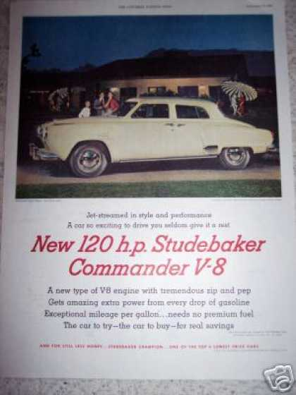 New 120 Hp Studebaker Commander V8 Car (1951)