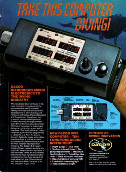 Dacor Scuba Diving Computer Depth Timer (1979)