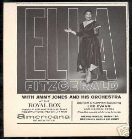 Ella Fitzgerald Photo Royal Box New York (1966)