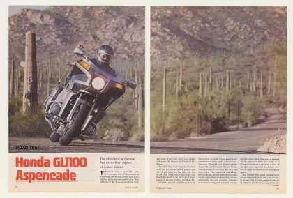 '83 Honda GL1100 Aspencade Motorcycle Road Test Article (1983)
