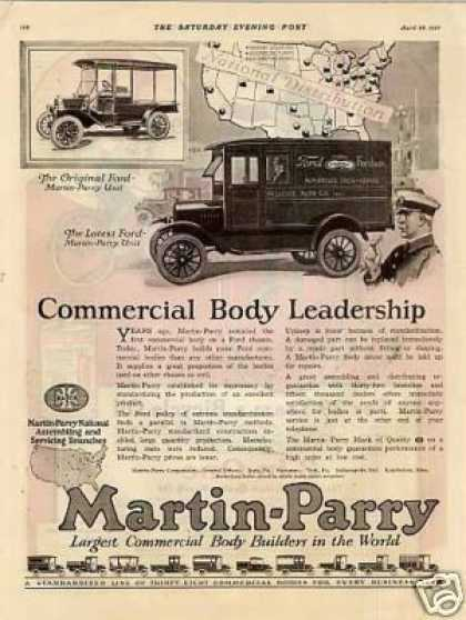 Martin-parry Truck Body Ad Ford Truck (1923)