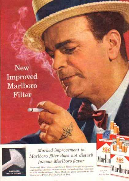 Marlboro Cigarettes – New Filter Flower (1958)