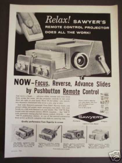 Sawyer's Remote Control Slide Projector Camera (1961)