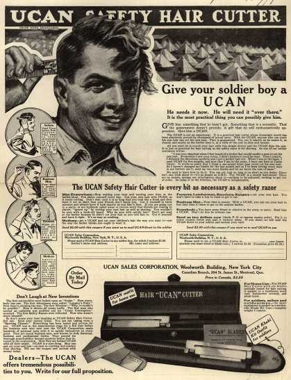 UCAN Sales Corporation's UCAN Safety Hair Cutter – UCAN Safety Hair Cutter (1917)