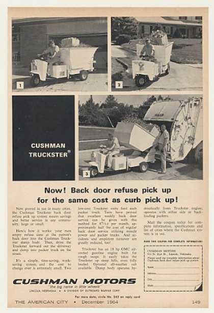 Cushman Truckster Back Door Refuse Pick Up Sys (1964)