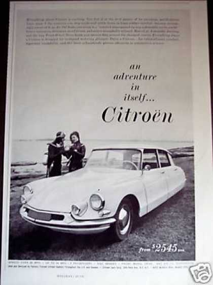 Citroen Car Scuba Divers Photo (1960)