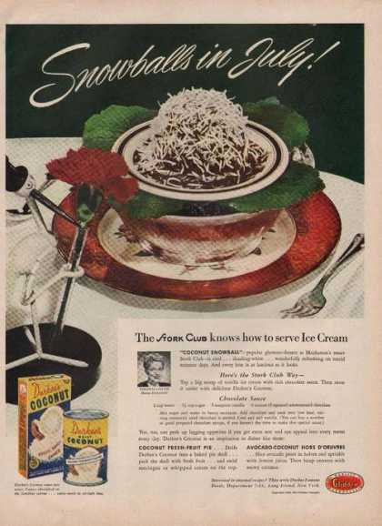 Durkees Coconut Moist Snowballs (1949)