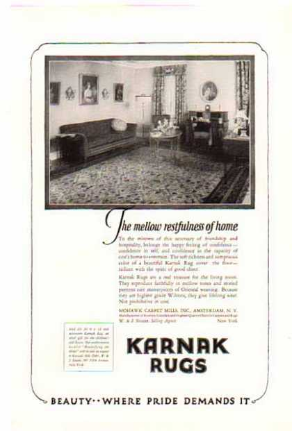 Karnak Rugs – Amsterdam, New York (1924)