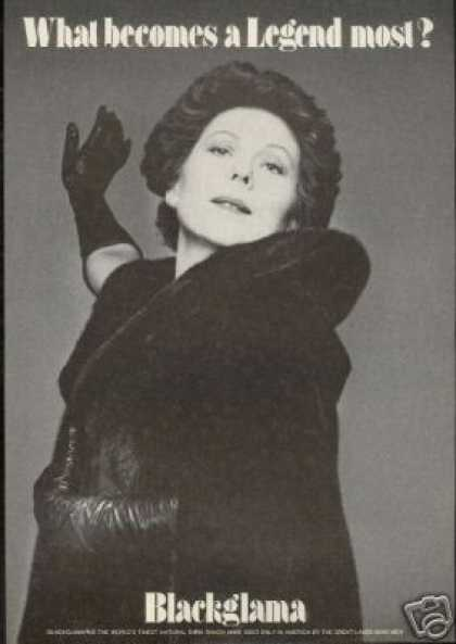 Renata Scotto Photo Blackglama Mink Vintage (1979)