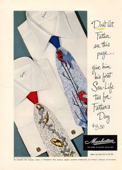 Manhattan Fashion Ties Sea Theme (1949)