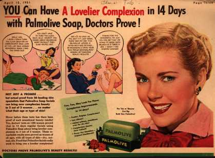Palmolive Company's Palmolive Soap – YOU Can Have A Lovelier Complexion in 14 Days with Palmolive Soap, Doctors Prove (1951)