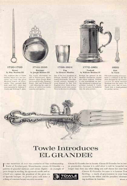 Towle Sterling Silver Dinnerware History Print (1964)