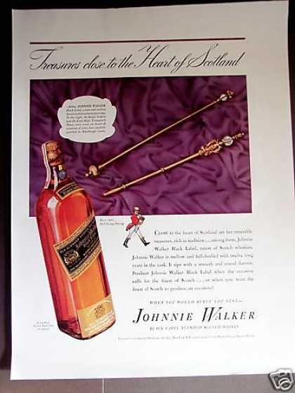 Royal Sceptre & Mace Johnnie Walker Blk Scotch (1939)