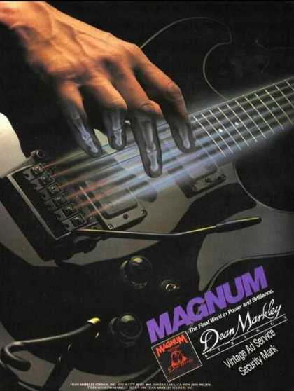 Dean Markley Strings Magnum Color Ad Rare (1985)