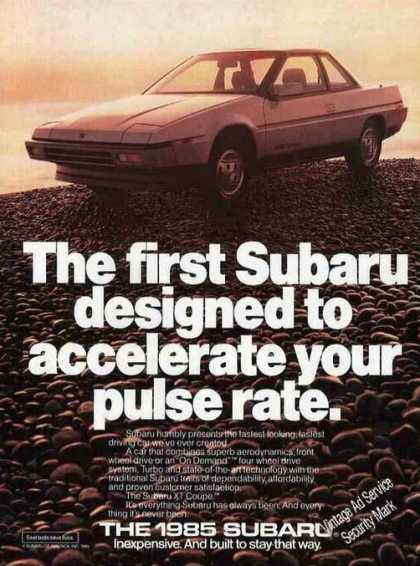 "Subaru Photo ""Accelerate Your Pulse Rate"" (1985)"