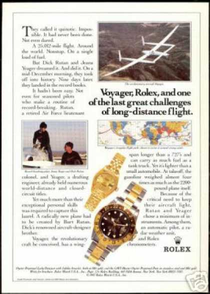 Voyager Rutan Yeager Rolex GMT Watch (1987)