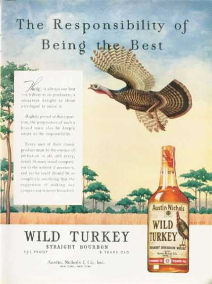 Wild Turkey Bourbon Digeorge Art (1962)