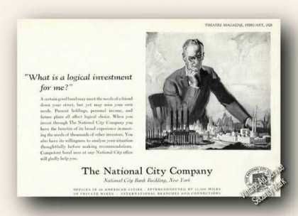 The National City Company Ny Advertising (1928)