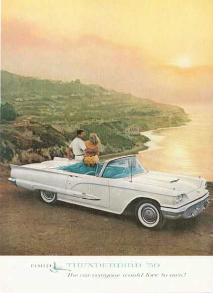 Ford Thunderbird Convertible at the Beach (1959)