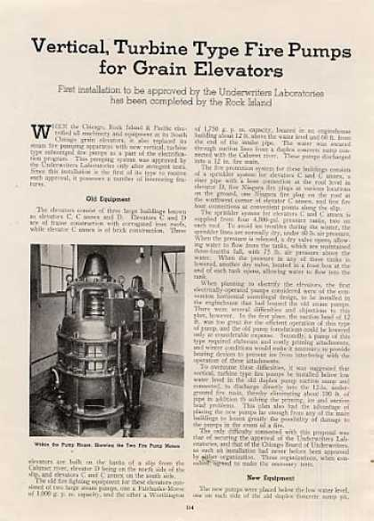 """Fire Pumps for Grain Elevators"" Article/ri (1939)"