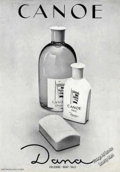 Canoe By Dana Cologne Soap Talc (1966)