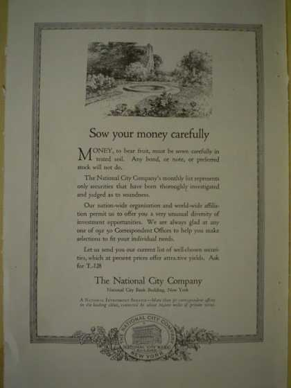 The National City Company Sow your money carefully (1920)