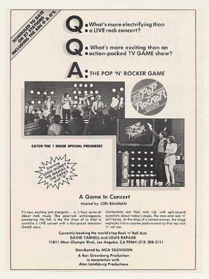The Pop 'N' Rocker Game TV Show Booking (1983)