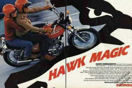 "Honda Hawk Hondamatic ""Hawk Magic"" Motorcycle (1978)"