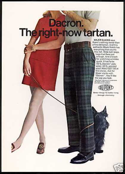 Scottish Terrier Scottie Dog Du Pont Slacks (1969)