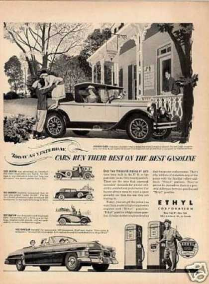 Ethyl Gasoline Ad 1924 Chrysler Car (1952)
